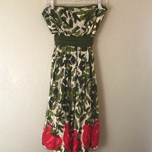 Anthropologie We Love Vera Strapless Dress Size 8
